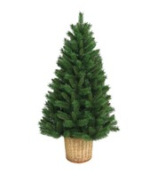 Artificial Christmas Tree with Basket - Green