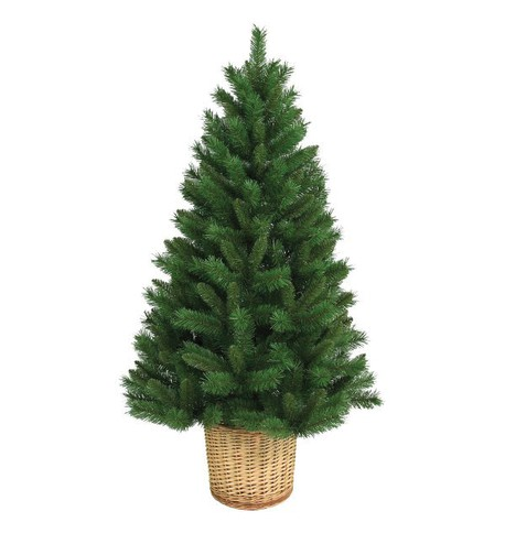 Artificial Christmas Tree with Basket Green