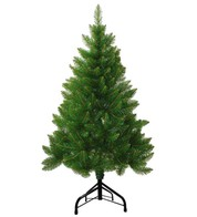 Outdoor Christmas Tree with Traditional Stand - Green