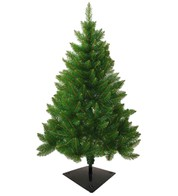 Outdoor Christmas Tree with Flat Fixing Bracket - Green
