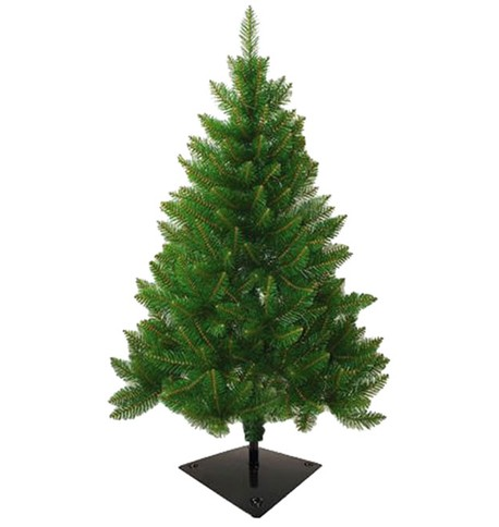 Outdoor Christmas Tree with Flat Fixing Bracket Green