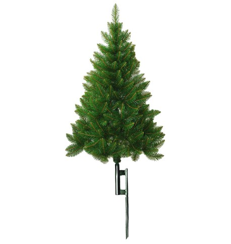 Outdoor Christmas Tree with Ground Spike Green
