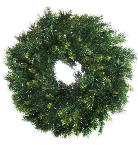 Plain Fir Christmas Wreath Green