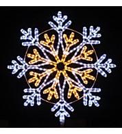 Outdoor Motif - Snowflake - Warm White