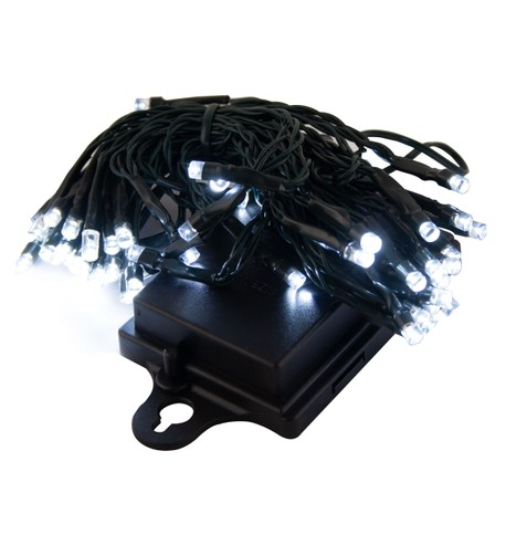 Outdoor Battery Operated Lights without Timer Ice White - Black Flex