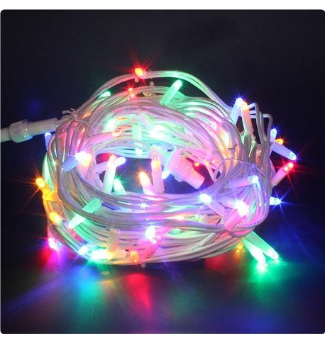 Outdoor String Lights - Pro Series Static Multicolour on White Cable Multicolour on White Cable