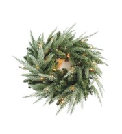 Pre Lit Colorado Wreath - Green