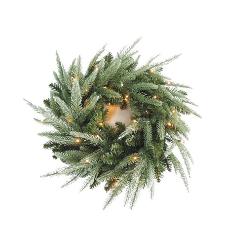 Pre Lit Colorado Wreath Green