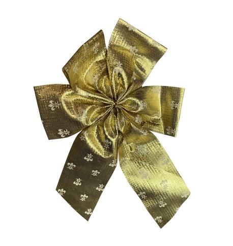 Fleur-de-lis Pattern Bows Gold