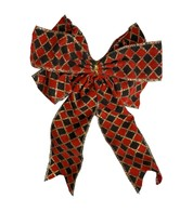 Harlequin Bows - Red