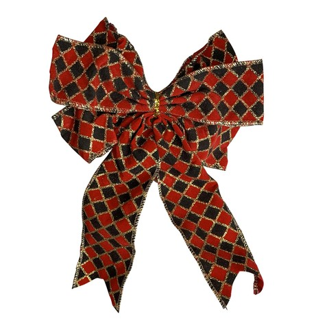 Harlequin Bows Red