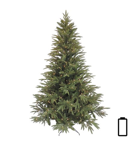 Pre Lit Battery Powered Colorado Pine Tree Green