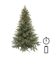 Pre Lit Battery Powered Colorado Pine Tree with Timer - Green