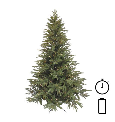 Pre Lit Battery Powered Colorado Pine Tree with Timer Green