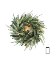 Pre Lit Battery Powered Colorado Wreath - Available 1st Sept - Green