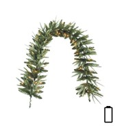 Pre Lit Battery Powered Long Colorado Garland - Green