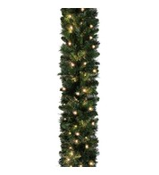 Pre Lit Sable Fir Garland 5.5m Standard Weight - Green