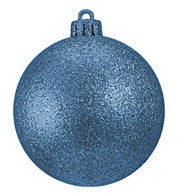 GLITTER BAUBLES - ICE BLUE - Ice Blue