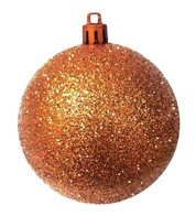 GLITTER BAUBLES - COPPER - Copper