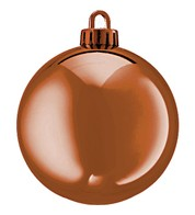 250mm SHINY BAUBLES - COPPER - Copper