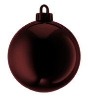250mm SHINY BAUBLES - CHOCOLATE - Chocolate