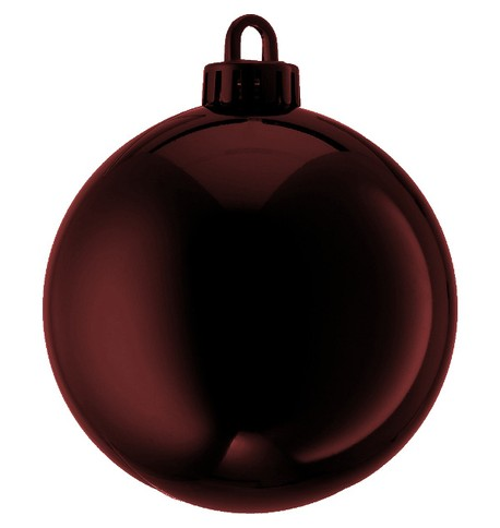 250mm SHINY BAUBLES - CHOCOLATE Chocolate