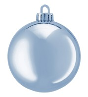 250mm SHINY BAUBLES - Ice Blue