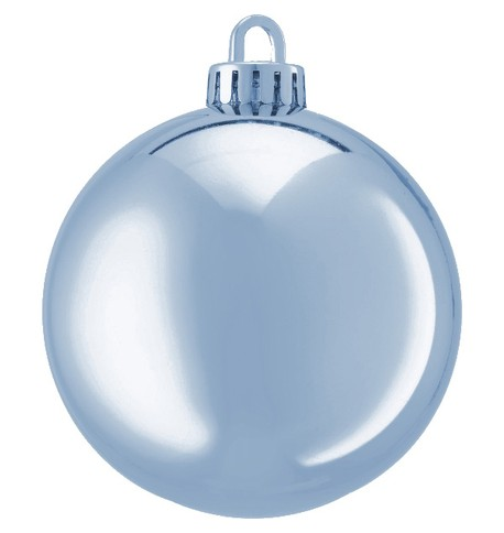 250mm SHINY BAUBLES Ice Blue