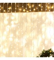 Indoor Curtain Lights - Warm White on White Cable - Warm White on White Cable