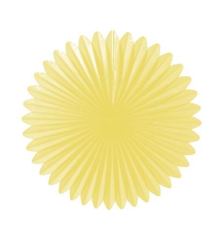 Flower fan - paper fold out Lemon
