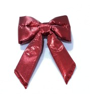 Red Lamé Bows - Red