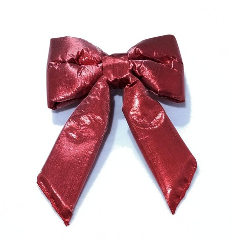 Red Lamé Bows Red