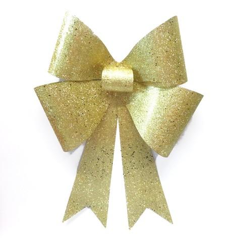 GLITTER BOWS - GOLD Gold