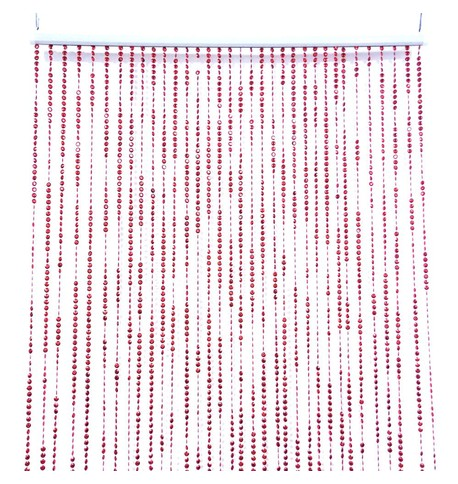 BEAD CURTAIN RED Red