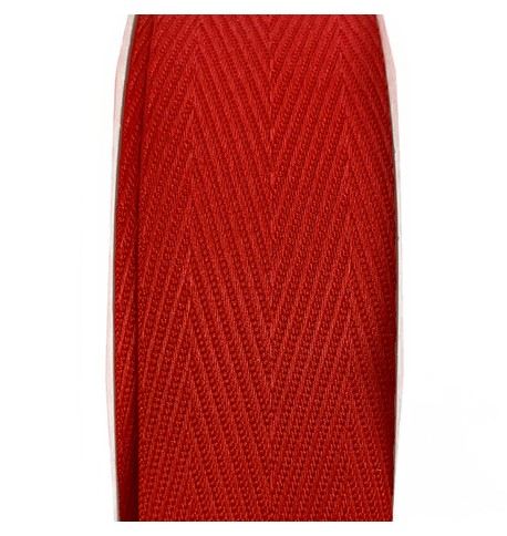 Woven Recycled Ribbon - Red Red