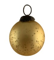 AMBER GLASS OMBRE BAUBLES - Yellow