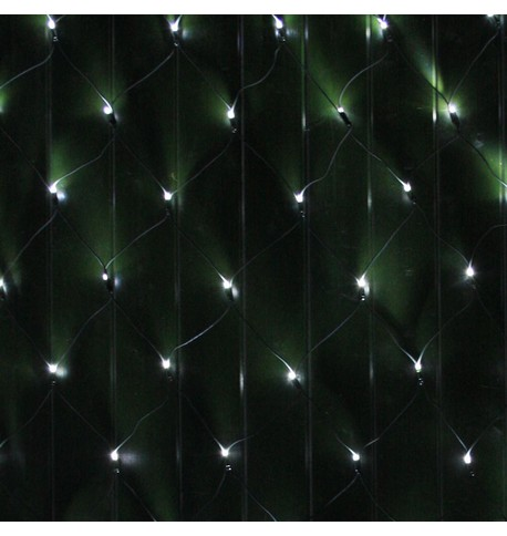 Commercial Grade Net Lights - Ice White on Green Cable Ice White