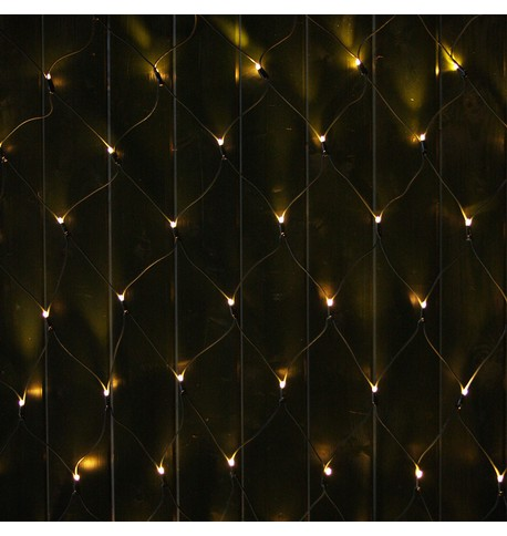 Commercial Grade Net Lights - Warm White on Green Cable Warm White