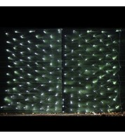 Commercial Grade Net Lights - Ice White on Green Cable - Ice White