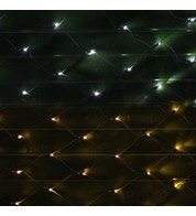 Commercial Grade Net Lights - With Colour Switch Option - One Click Colour Switch - Ice White/Warm White