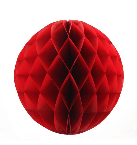 Red Honeycomb Paper Balls Red