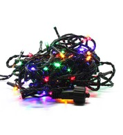 Elements Range Low Voltage Micro LEDs Battery Powered - Multicolour on Green Cable - Multicolour
