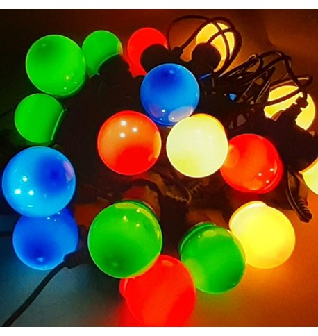 LED FESTOON LIGHTS Multi Colour on Black Cable
