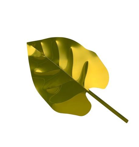 Gold Display Monstera Leaf Gold