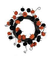 Pumpkin Wreath - Black and Orange