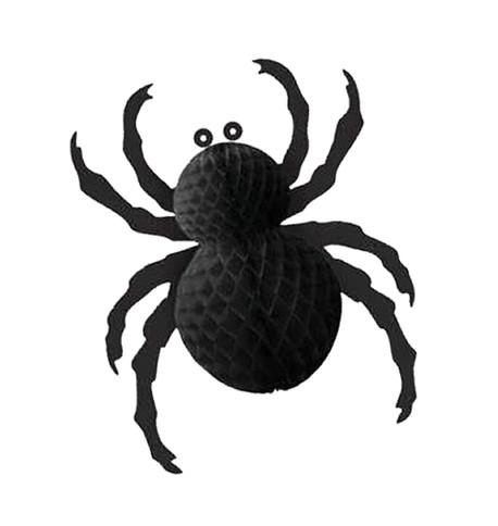 Foldout Paper Spider Black