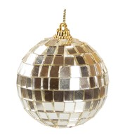 MIRROR BAUBLES - CHAMPAGNE - Gold