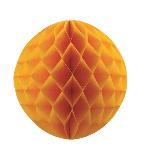 Matt Honeycomb Paper Balls - Gold Gold