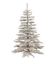 FLOCKED NORWAY SPRUCE CHRISTMAS TREE - Warm White