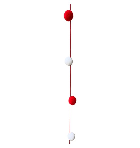Pom Pom Garland Red And White
